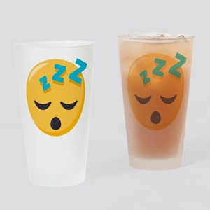 Sleeping Emoji Drinking Glass