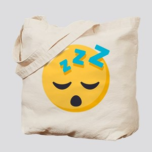 Sleeping Emoji Tote Bag