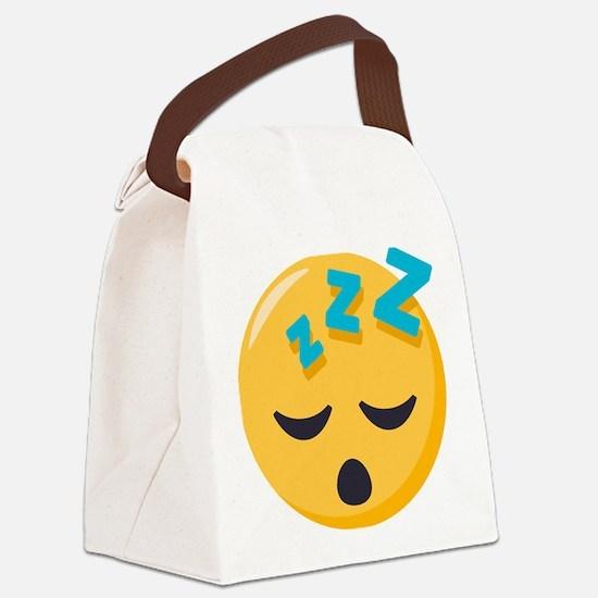 Sleeping Emoji Canvas Lunch Bag