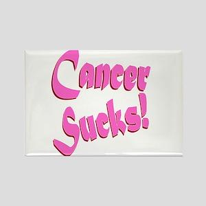 Cancer Sucks Funny Pink Rectangle Magnet