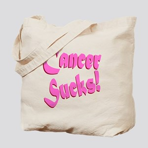 Cancer Sucks Funny Pink Tote Bag