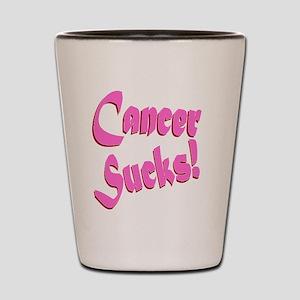Cancer Sucks Funny Pink Shot Glass
