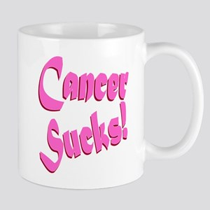 Cancer Sucks Funny Pink Mug