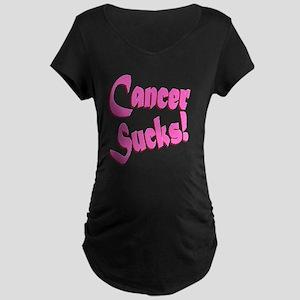 Cancer Sucks Funny Pink Maternity Dark T-Shirt