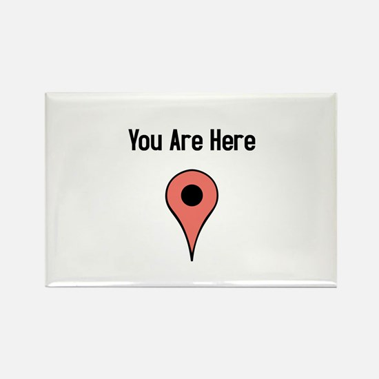 You Are Here (v2) Rectangle Magnet