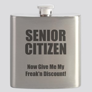 Senior Citizen Black Flask