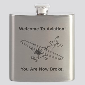 Aviation Broke Style 2 black Flask