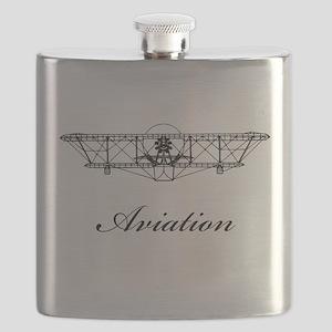 Wright Aviation Black Flask