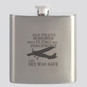 Old Pilots AI PNG Flask