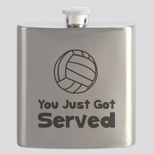 Volleyball Served Black Flask