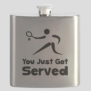 Tennis Served Black Flask