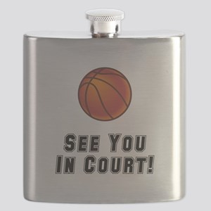 Basketball Court Black Flask