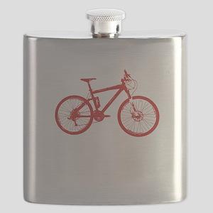 Mountain Bike Red Flask