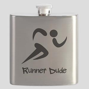 Runner Dude Black Flask