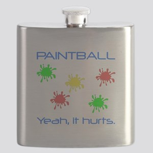 Paintball Hurts Blue Flask