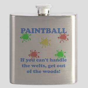 Paintball Welts Blue Flask