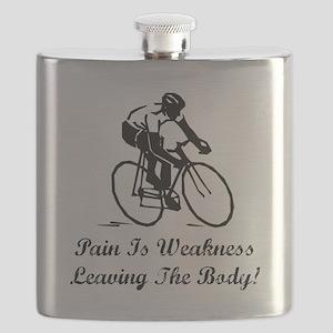 Pain Is Weakness Black Flask