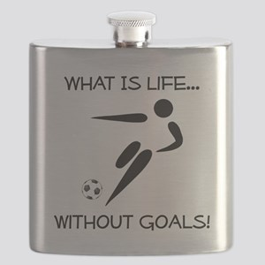 Soccer Goals Black Flask