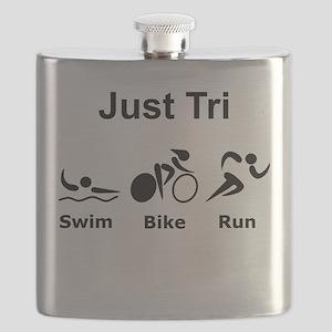 Just Tri Black Flask