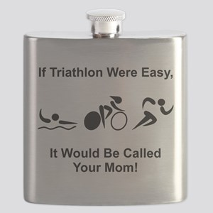 Triathlon Mom Black Flask