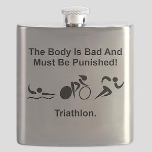 Triathlon Bad Body Black Flask