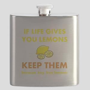 Keep Lemons Yellow Flask