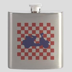 Mod Scooter Blue Flask