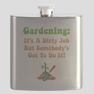 Dirty Job Green Flask