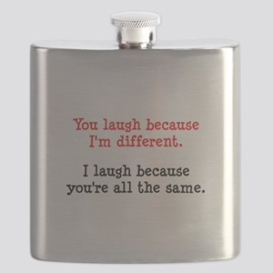 Laugh Different Black Flask