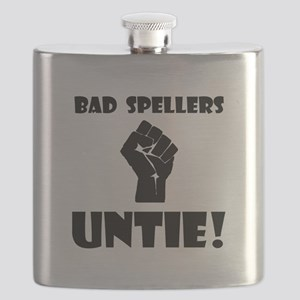 Bad Spellers Black Flask