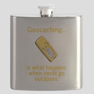 Geocaching Nerds Yellow Flask