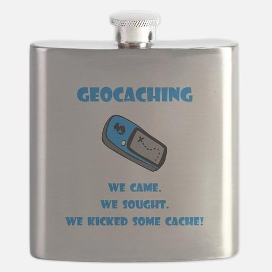 Geocaching Kick Cache Blue.png Flask