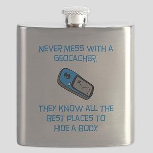 Geocacher Body Blue Flask