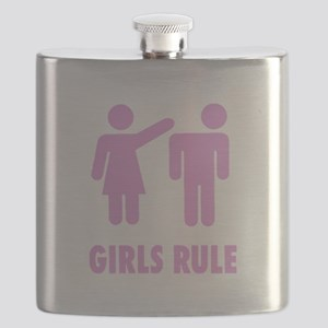Girls Rule Pink Flask