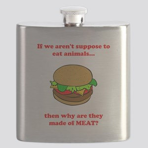 Made Of Meat Red Flask
