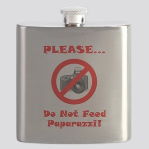 Do Not Feed Paparazzi Red Flask