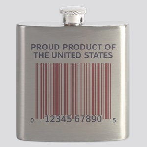 Barcode United States Flask