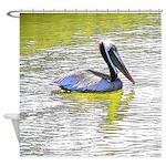 Coastal Pelican Shower Curtain