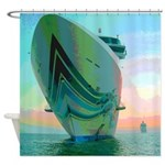 Cruise Ships Nautical Shower Curtain