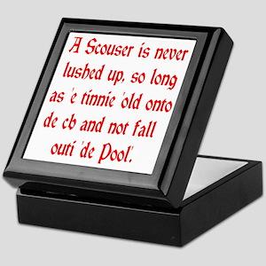 Scouser Lushed Up Red Keepsake Box