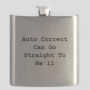 Auto Correct Black Flask