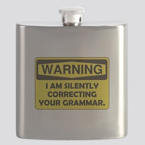 Grammar Correcting Yellow Only Flask