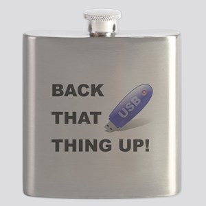 Back That Up USB Black Flask