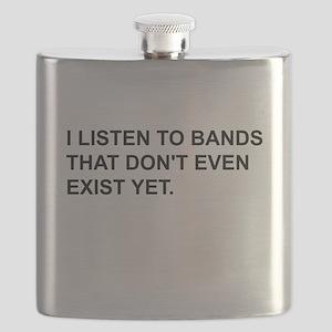 Bands Dont Exist Black Flask