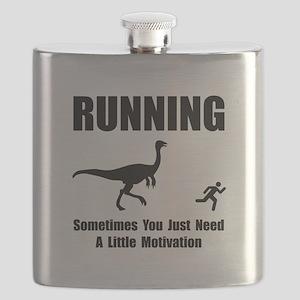 Running Motivation Black Flask
