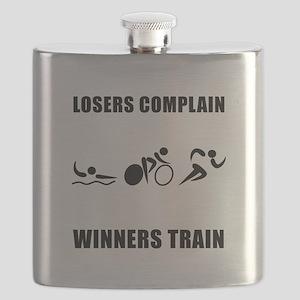Triathlon Winners Train Black Flask