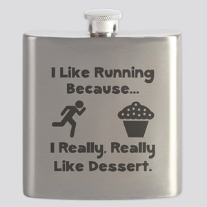Running Dessert Black Flask