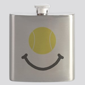 Tennis Smile Black Flask