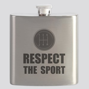 Driving Respect The Sport Black Flask