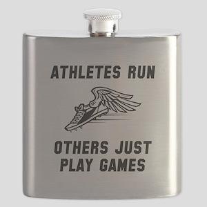 Athletes Run Black Flask
